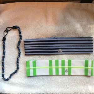 Lululemon headbands set of 3